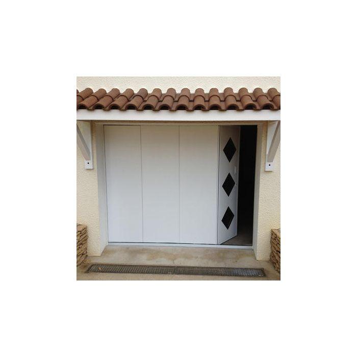 Porte Garage Ouverture Sectionnelle Laterale avec porte piéton à droite ou à gauche